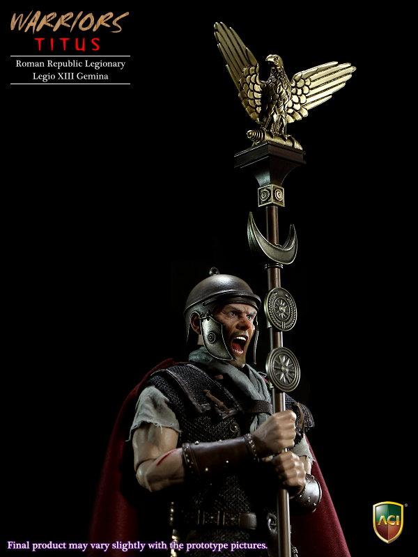 LEGIONARY TITUS ROMAN REPUBLIC LEGIO XIII GEMINA 1/6th